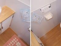 施工後【トイレ】フタの開け閉めが自動のフルオート機能や従来品より節水・節電できるトイレです。