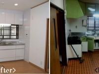 【キッチン】使いやすいシステムキッチンへ タイル貼りからキッチンパネルにし掃除もしやすくなりました!