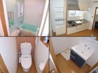 施工後【水廻り】浴室、システムキッチン、トイレ、洗面
