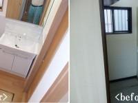 【洗面所】収納付三面鏡