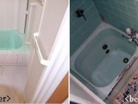 【浴室】増築をしたので以前より広いサイズのシステムバスへ!冷たいタイル貼りの暗い空間から清潔感のある明るい空間になりました。