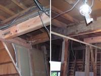 【構造補強】一級建築士がチェックをおこない 構造補強(梁補強、金物補強)の工事を行いました。