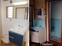 【洗面所】以前は洗面所 単独の空間がありませんでしたが、増築をしたので広い空間が確保できました。
