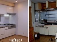 【キッチン】システムキッチンへ入れ替え 使い勝手がよくなりました。