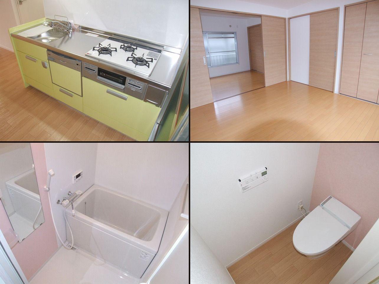 < 施工後 一例 >キッチン、浴室、トイレ、洋室