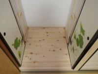 【仏間】今回は、『軸回し』といって 襖戸を扉が開きた状態でスライドさせ格納できる建具を取り付けました。