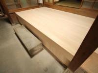 リフォーム後 上がり框①  奈良吉野産木材を利用。