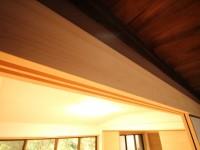 リフォーム後 鴨居  奈良吉野産木材を利用。