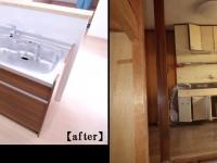 キッチンは、家族構成に合わせコンパクトにし対面キッチンへ。