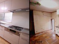 【DK】床は土台からやり直し、キッチンまわりも奥様ご希望のとおりに仕上げました。
