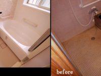 引き戸が劣化により 開け閉めが困難になり、タイル張りのお風呂の劣化も激しくなってきていました。