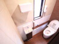 リフォーム後  トイレ/TOTO ネオレスト、手洗い器 自動水栓タイプ