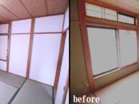 【和室】畳を表替えし、既存の壁は『ヘルシーカラー』で塗り替えました。