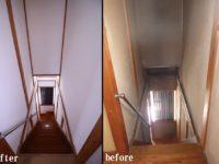 【階段】既存の壁を塗り替え