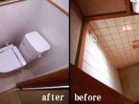 【トイレ】床が不朽し 狭い空間でしたので、使用しずらいトイレでした。<BR>居室側に壁を出し、最低限の空間を確保。毎日使用するトイレだから ストレスのない空間を第一に考えました。